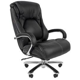 Компьютерное кресло для руководителя Chairman 402 Черная кожа, Цвет товара: Черный