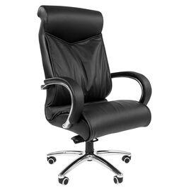 Компьютерное кресло для руководителя Chairman 420 кожа черная, Цвет товара: Черный