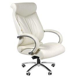 Компьютерное кресло для руководителя Chairman 420 Натуральная кожа белого цвета, Цвет товара: Белый