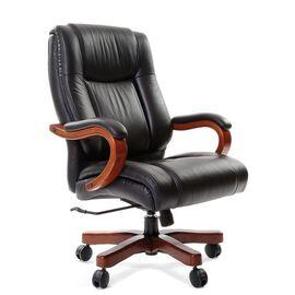 Компьютерное кресло для руководителя Chairman 503 натуральная кожа, Цвет товара: Черный