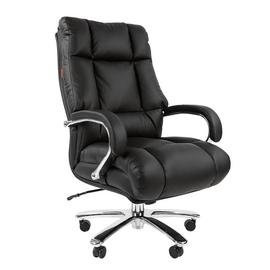 Компьютерное кресло для руководителя Chairman 405 натуральная кожа, Цвет товара: Черный