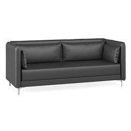 Диван трехместный низкий Графит Н Euroforma (ШхГхВ - 218x91x84 см.)с двумя подушками подлокотниками