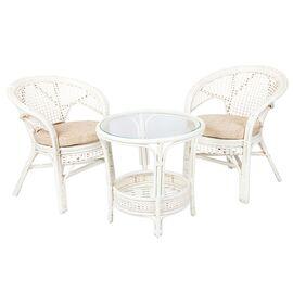 """Комплект кофейный """"ПЕЛАНГИ"""" (Стол + 2 кресла), 02-15-1White Белый Ecodesign, Цвет товара: Белый"""