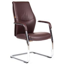 Офисное кресло для посетителей Chairman Vista V эко Коричневый, Цвет товара: Коричневый