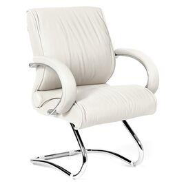 Офисное кресло для посетителей Chairman CH 445 Белая кожа, Цвет товара: Белый