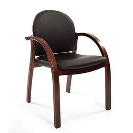 Офисное кресло для посетителей Chairman CH 659 Теrrа черный матовый/тем.орех