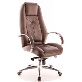 Компьютерное кресло для руководителя Everprof Drift Full AL M кожа коричневый, Цвет товара: Коричневый