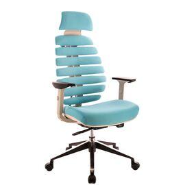 Компьютерное кресло для руководителя Everprof Ergo Grey ткань бирюзовый, Цвет товара: Бирюзовый