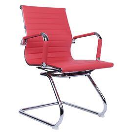 Офисное кресло для посетителей Everprof Leo CF экокожа красный, Цвет товара: Красный