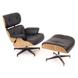 Кресло Relax с оттоманкой Everprof экокожа черный