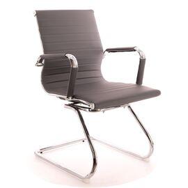 Офисное кресло для посетителей Everprof Leo CF экокожа серый, Цвет товара: Серый