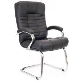 Офисное кресло для посетителей Everprof Atlant CF экокожа черный, Цвет товара: Чёрный