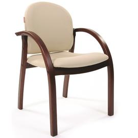 Офисное кресло для посетителей Chairman CH 659 Терра 101 беж матовый/темный орех