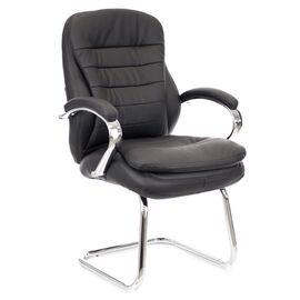 Офисное кресло для посетителей Everprof Valencia CF экокожа черный, Цвет товара: Чёрный