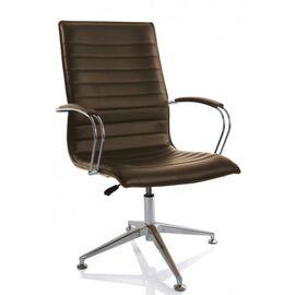 Офисное кресло для посетителей Aim Vi base (C2W) шоколад /хром с обивкой
