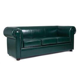 Диван трехместный Chairman Честер лайт (ШхГхВ 2200х900х800 ), Цвет товара: темно-зеленый