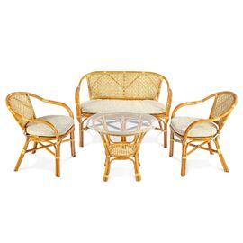 Комплект кофейный ELLENA-11/21 К (кофейный стол + 2 кресла+диван) Коньячный Ecodesign, Цвет товара: Коньячный