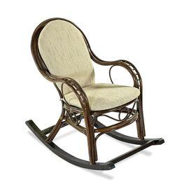 Кресло-качалка с подножкой MARISA-R , 05-12 Б (подушка рогожка) EcoDesign