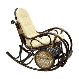 Кресло-качалка с подножкой, 05-10 Б (подушка рогожка) EcoDesign