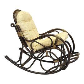 Кресло-качалка с подножкой, 05-11 Б (подушка рогожка) EcoDesign