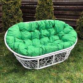 Кресло Mamasan Patio-23-02 met 5 цвет плетения белый, цвет подушки зеленый EcoDesign, Цвет товара: Белый / Зелёный
