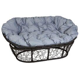Кресло Mamasan Patio-23-02 met 9 цвет плетения Чёрный, цвет подушки серый EcoDesign