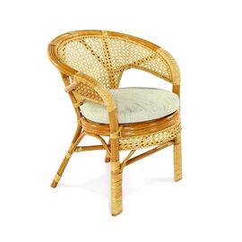 Кресло из ротанга ПЕЛАНГИ, 02-15В К Ecodesign, Цвет товара: Коньячный