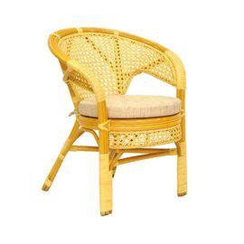 Кресло из ротанга ПЕЛАНГИ, 02-15В М Ecodesign, Цвет товара: Медовый.