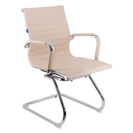 Офисное кресло для посетителей Everprof Leo CF экокожа бежевый, Цвет товара: Бежевый