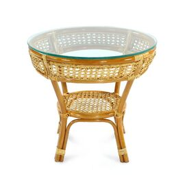 Стол кофейный из ротанга JAVA, 27-22 К Коньячный Ecodesign, Цвет товара: Коньячный