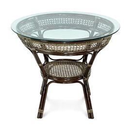 Стол обеденный из ротанга JAVA, 11-23А Б темно-Коричневый Ecodesign, Цвет товара: Темно-коричневый
