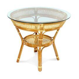 Стол обеденный из ротанга JAVA, 11-23А К Коньячный Ecodesign, Цвет товара: Коньячный