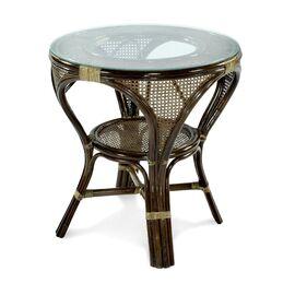 Стол обеденный из ротанга MOKKO L, 11-10 Б темно-Коричневый Ecodesign, Цвет товара: Темно-коричневый