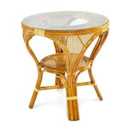 Стол обеденный из ротанга MOKKO L, 11-10 К коньячный Ecodesign, Цвет товара: Коньячный