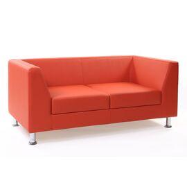 Диван двухместный Chairman Дерби (ШхГхВ 1520х770х670 ), Цвет товара: Оранжевый