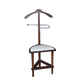 Вешалка костюмная с сиденьем В 26Н Mebelik Средне-коричневый 420х360х1050, Цвет товара: Средне-коричневый