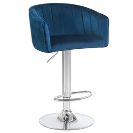 Барный стул LM-5025 синий DOBRIN, Цвет товара: Синий