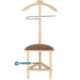 Вешалка костюмная с сиденьем В 26Н Mebelik Слоновая кость 420х360х1050, Цвет товара: Слоновая кость