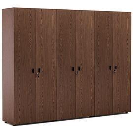 Шкаф для бумаг с двумя гардеробами Exe Profoffice H.197 ОРЕХ МАРОНЕ/ЧЕРНЫЙ (101 732 MAR 09) 2420x440x1970, Цвет товара: ОРЕХ МАРОНЕ/ЧЕРН