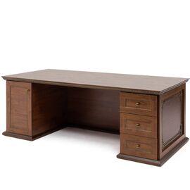Стол для руководителя ISEO Profoffice L200 экокожа (136S011) ВИШНЯ АНТИЧНАЯ 1600x918x770