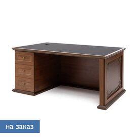 Стол для руководителя ISEO Profoffice L160 экокожа (136S034) ВИШНЯ АНТИЧНАЯ/ЧЕРНЫЙ 1600x918x770