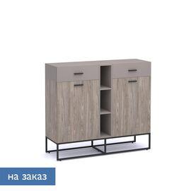 Шкаф низкий Calipso Profoffice (138H006) Орех Барселон/Базальт 1410x440x1240, Цвет товара: Орех Барселон
