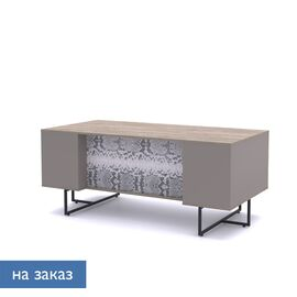 Стол письменный Calipso Profoffice L180 (138S001) Орех Барселон/Питон 1800x900x760, Цвет товара: Орех Барселон