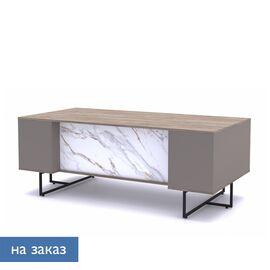 Стол письменный Calipso Profoffice L200 (138S002) Орех Барселон/Мрамор 2000x1000x760, Цвет товара: Барселон / Мрамор