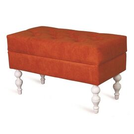 Банкетка Виктория (эмаль белая / G08 - морковный) Red Black, Цвет товара: Оранжевый