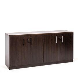 Шкаф низкий удлиненный POS/SIR Profoffice (131H110 V5V5) ТЕМНЫЙ Орех размеры 1602x420x810
