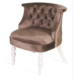 Кресло Бархат (эмаль белая / 15 - коричневый) Red Black