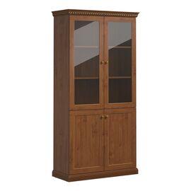 Шкаф для бумаг со стеклом ISEO Profoffice L104 (136H003) ВИШНЯ АНТИЧНАЯ 1040x449x2073