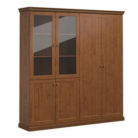 Шкаф для документов закрытый и со стеклом ISEO Profoffice L201 (136H013) ВИШНЯ АНТИЧНАЯ 2014x449x2073