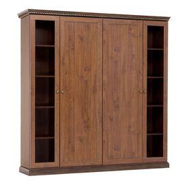 Шкаф для бумаг с ассиметричными дверьми ISEO Profoffice L201 (136H016) ВИШНЯ АНТИЧНАЯ 2014x449x2073